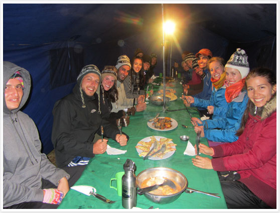 Lares Trek meal