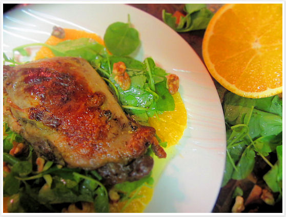 Duck Confit with Orange and Watercress