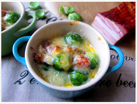 Brussels Sprout and Smoked Bacon Gratin 7