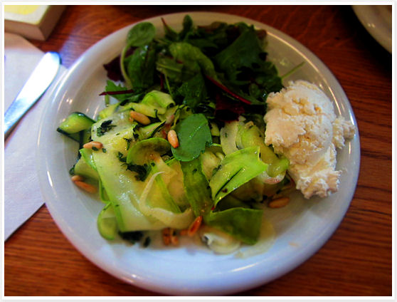 La Fromagerie - London - Goat Cheese and Zucchini Salad