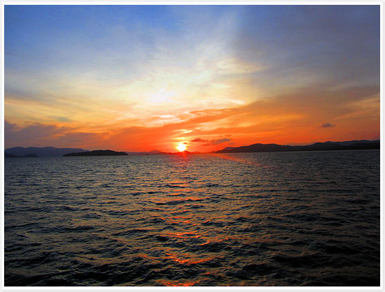 Phuket Thailand -  Phang Nga Bay Sunset