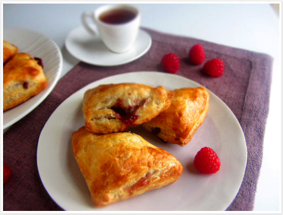 Chocolate Raspberry Turnovers 6