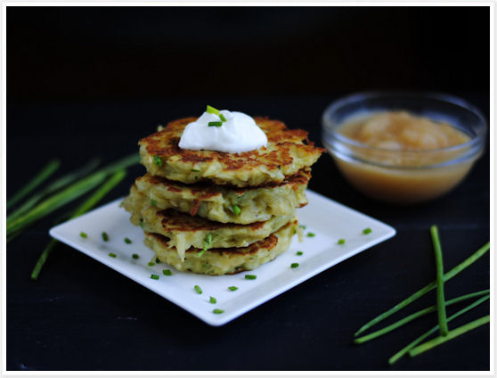 ... potato pancakes mini potato pancakes with green garlic and chives