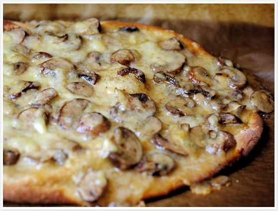 Truffled Fontina and Mushroom Pizza