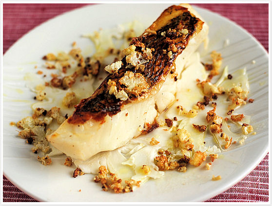 Seared Bass with Cauliflower 4