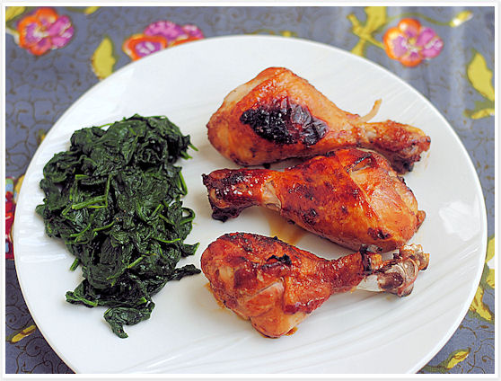 Apricot-Glazed Chicken Drumsticks
