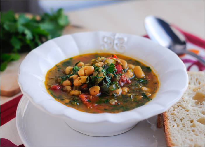 Iraqi White Bean Soup 4