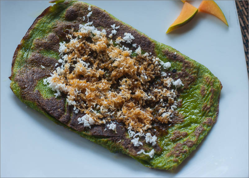 Balinese Breakfast - Green Banana Pancake