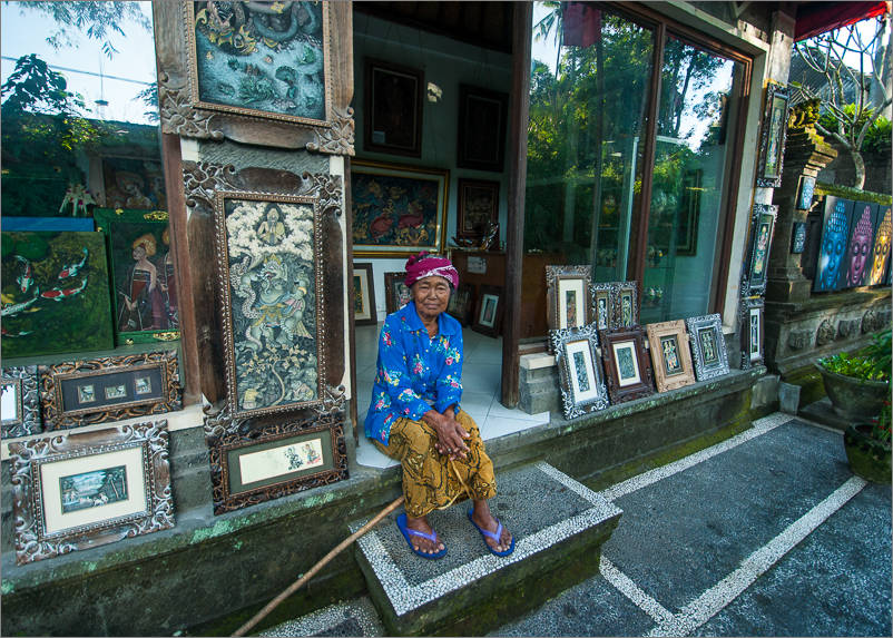 Ubud - Campuhan Walk - Gallery Owner