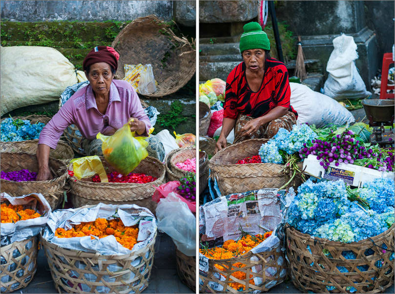 Ubud Market - Flower Ladies