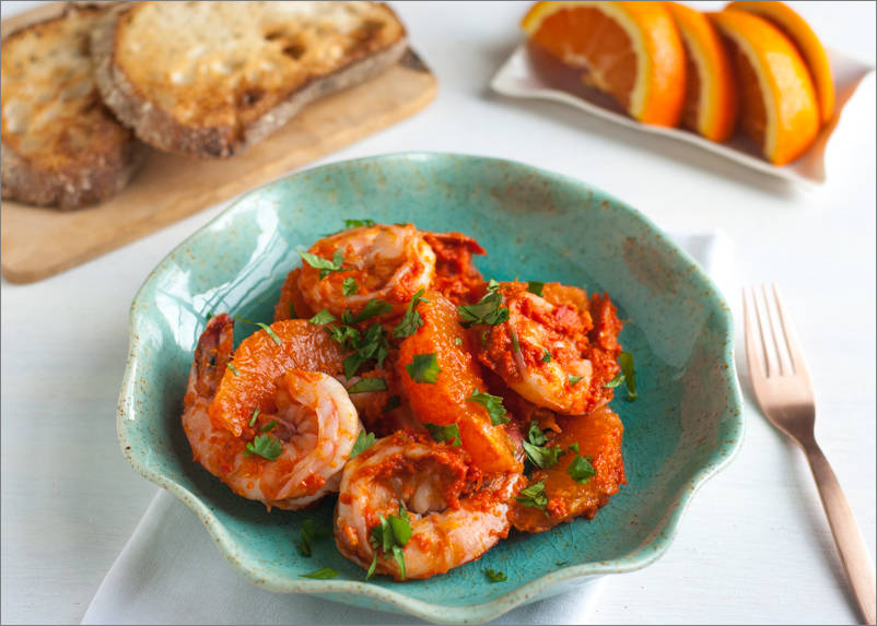Shrimp and Orange Salad