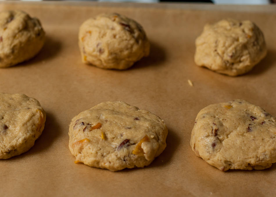 Dried Mango Scones with Pecans and Shredded Coconut