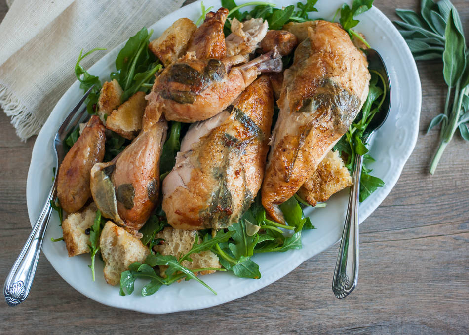 Roast Chicken and Bread Salad