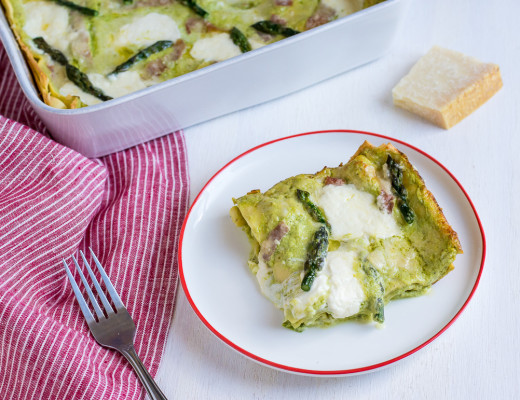Asparagus and Burrata Lasagna