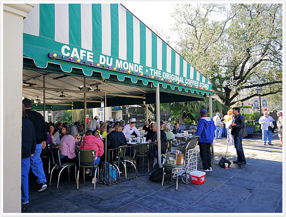 Cafe In New Orleans Serving Beignets