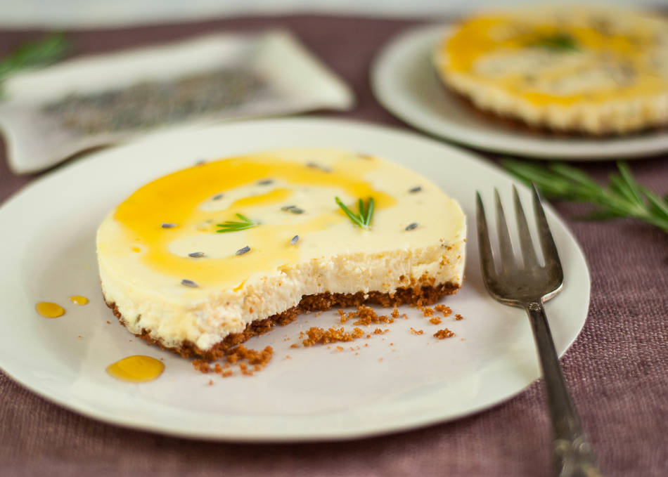 Goat Cheese Cakes With Rosemary And Lavender Honey