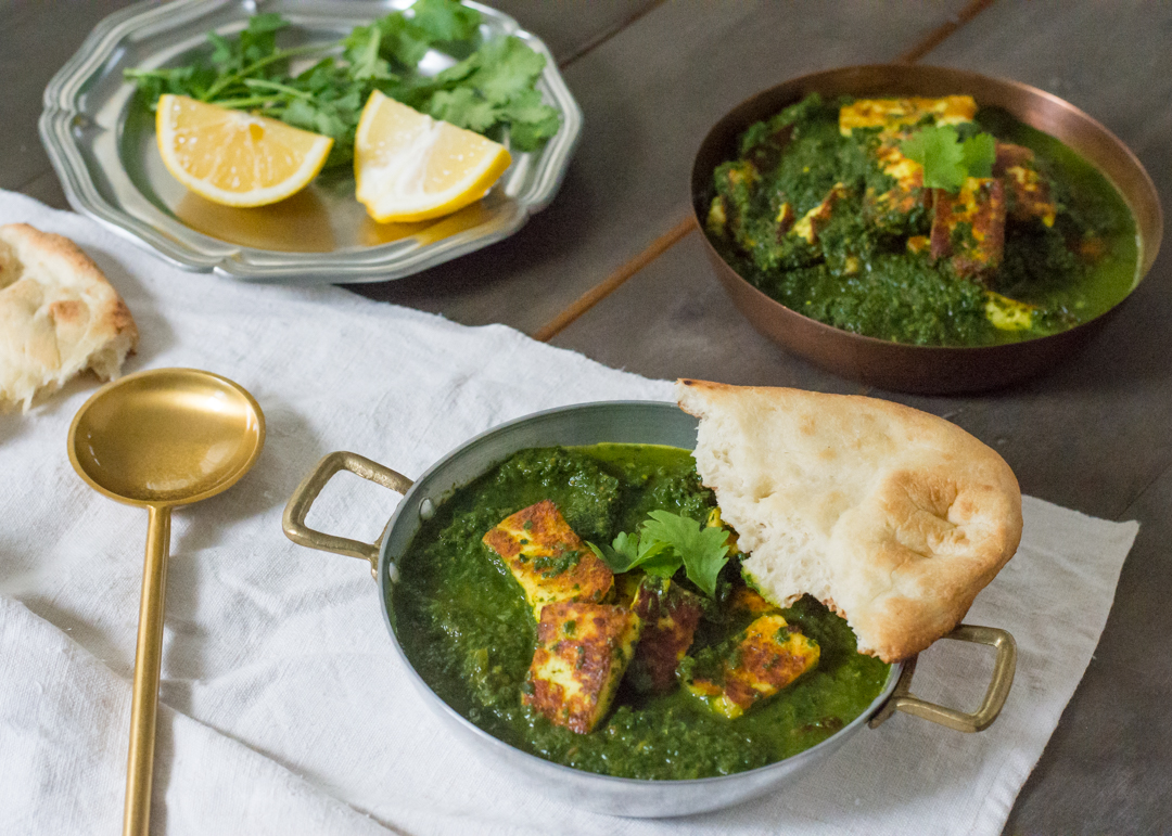 Saag Paneer Cheese In Creamy Spiced Greens Flying Fourchette